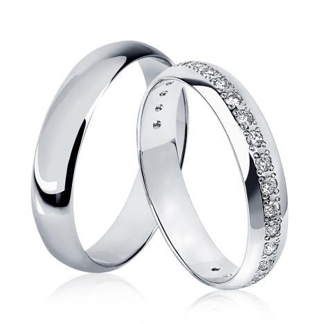 обручальные кольца из платины купить в москве